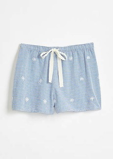 LOFT Floral Embroidered Pajama Shorts