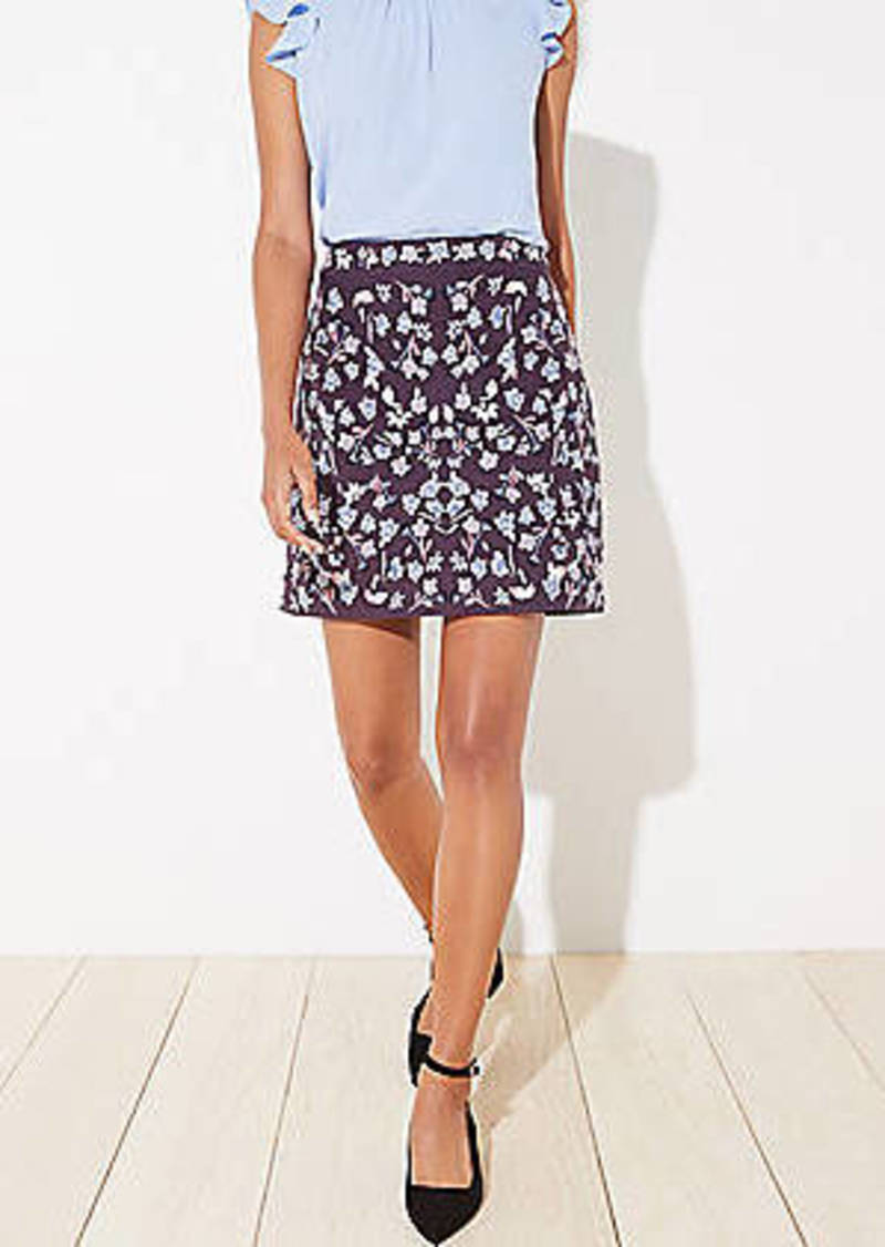 LOFT Floral Embroidered Shift Skirt