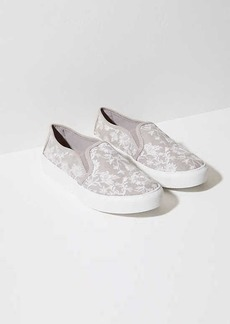 LOFT Floral Embroidered Slip On Sneakers