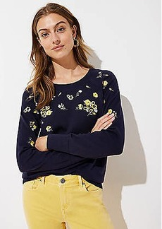 LOFT Floral Embroidered Sweater