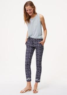 LOFT Floral Skinny Ankle Pants in Marisa Fit