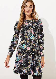 LOFT Floral Flare Dress