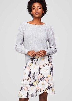 Floral Flounce Skirt