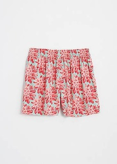 LOFT Floral Fluid Pull On Shorts