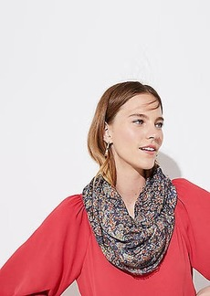 LOFT Floral Infinity Scarf