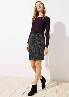 LOFT Floral Jacquard Pencil Skirt