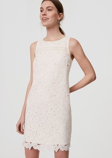 LOFT Floral Lace Shift Dress