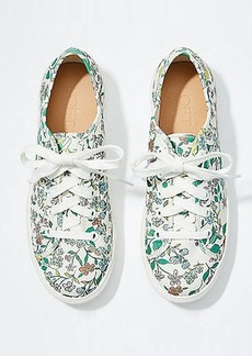 LOFT Floral Lace Up Sneakers