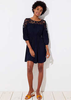 Floral Lace Yoke Dress