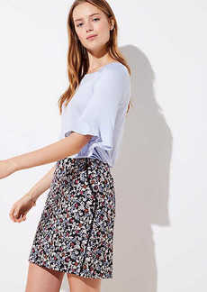 LOFT Floral Lacy Pocket Shift Skirt
