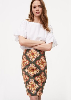 Floral Medallion Pencil Skirt