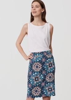 Floral Medallion Pencil Skirt