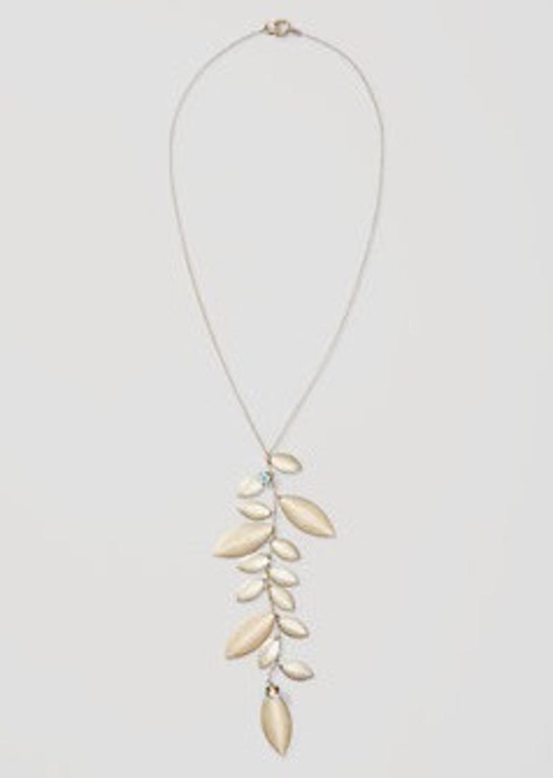 LOFT Floral Metallic Leaf Necklace