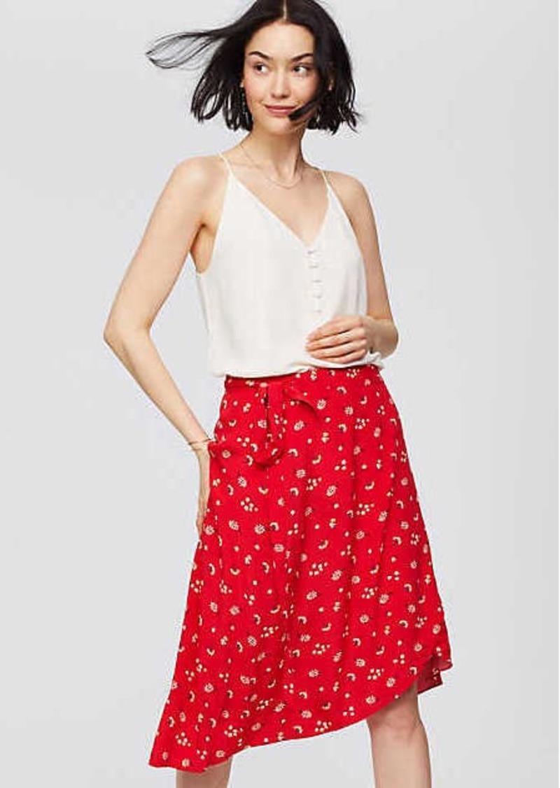 b362952a97 LOFT Floral Midi Wrap Skirt Now $20.93
