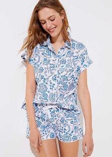 LOFT Floral Paisley Pajama Set