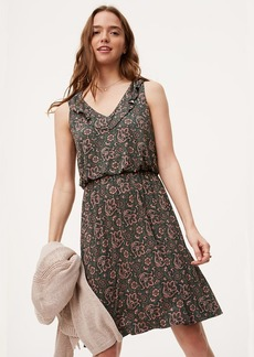 Floral Paisley Ruffle Dress