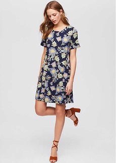 Floral Paisley Short Sleeve Swing Dress