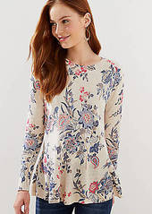 LOFT Floral Peplum Sweater