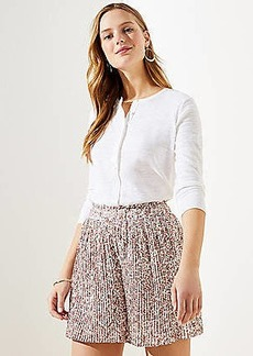 LOFT Floral Pleated Shorts