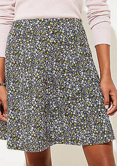 LOFT Floral Ponte Flippy Skirt