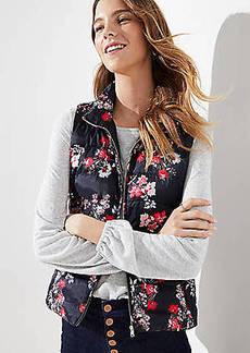 LOFT Floral Puffer Vest