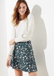 LOFT Floral Pull On Flippy Skirt