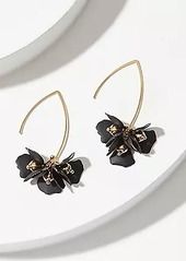 LOFT Floral Pull Through Drop Earrings