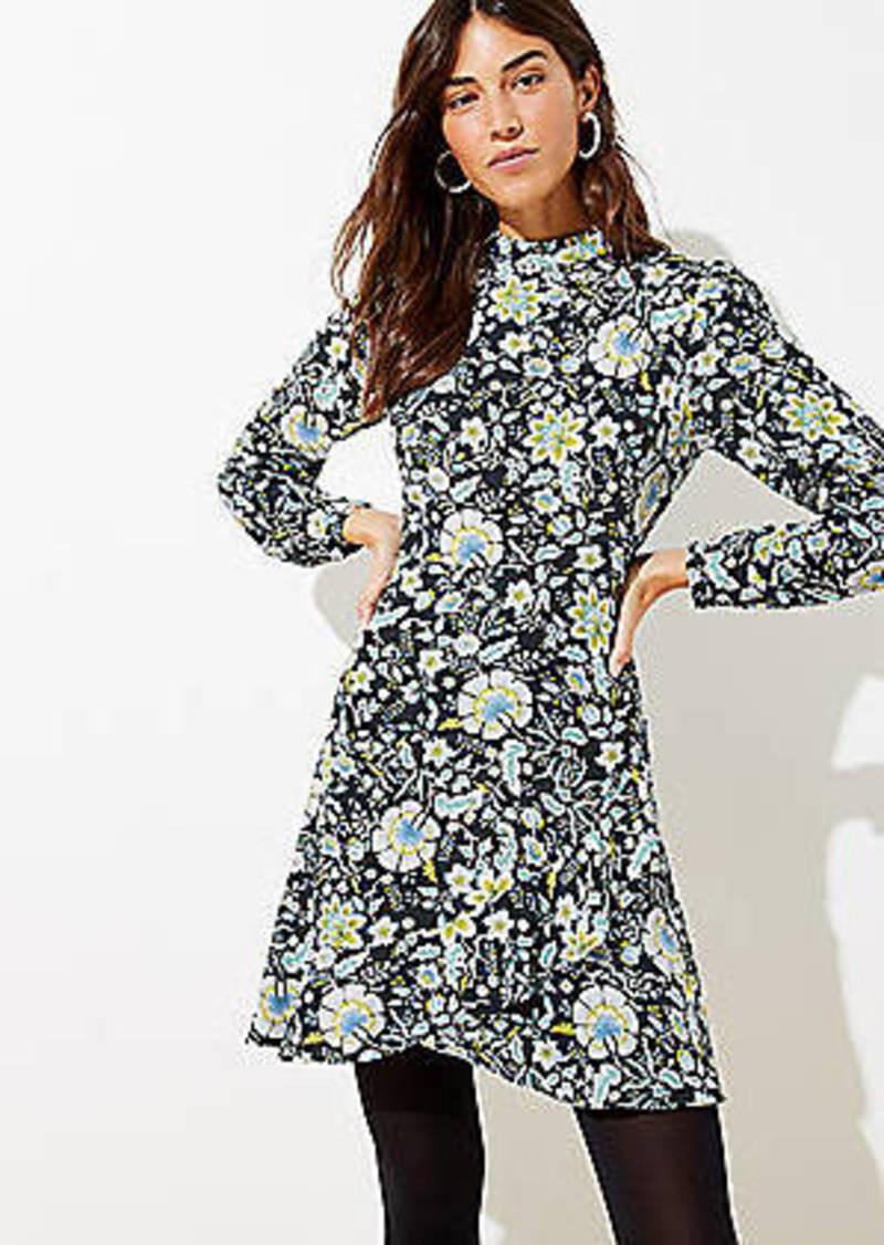 LOFT Floral Ruffle Wrap Skirt Dress
