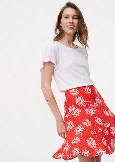 Floral Seamed Skirt