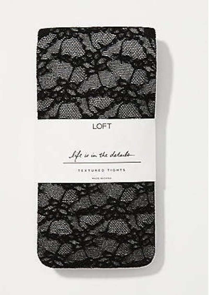 LOFT Floral Sheer Tights