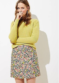 LOFT Floral Shift Skirt