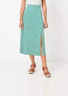 LOFT Floral Slit Midi Skirt