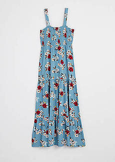 LOFT Floral Smocked Tiered Maxi Dress