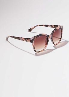 LOFT Floral Square Sunglasses