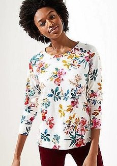 LOFT Floral Sweatshirt