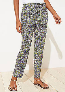 LOFT Floral Tapered Pants