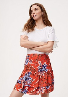 Floral Tiered Flippy Skirt