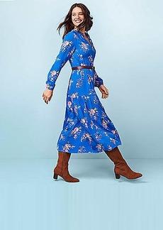 LOFT Floral Tiered Maxi Dress