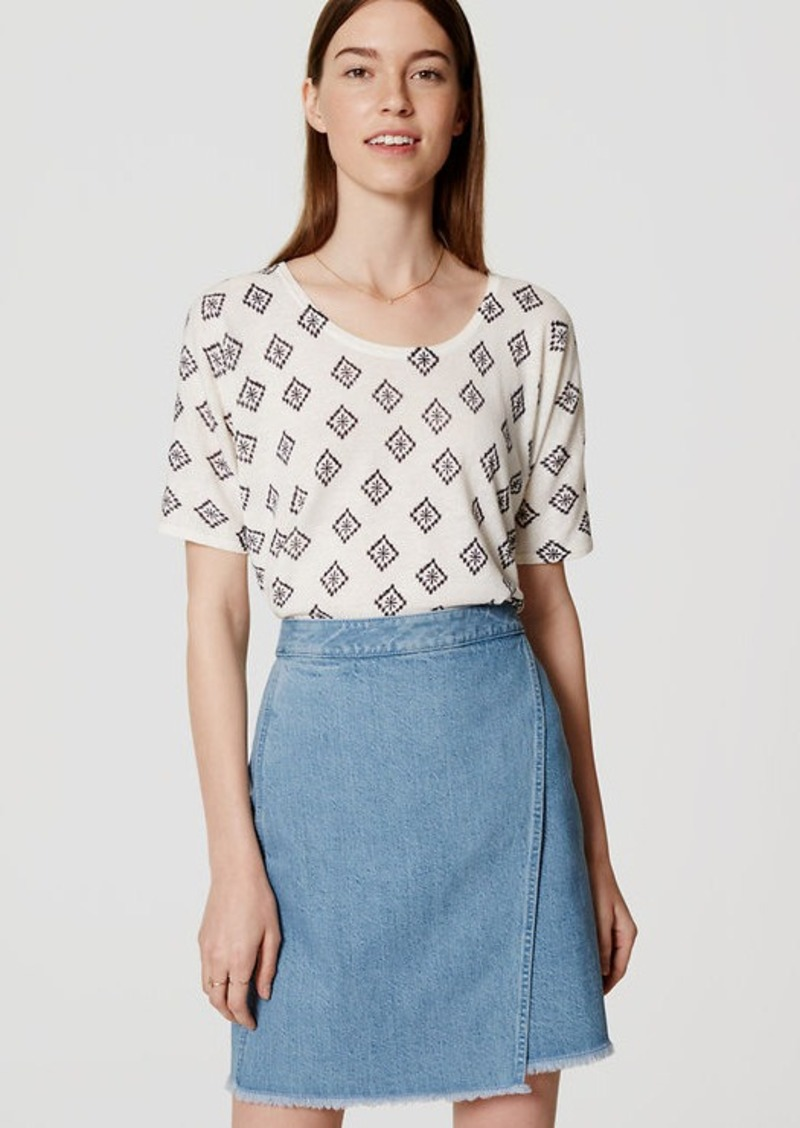 LOFT Floral Tile Relaxed Tee