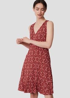Floral V-Neck Flare Dress