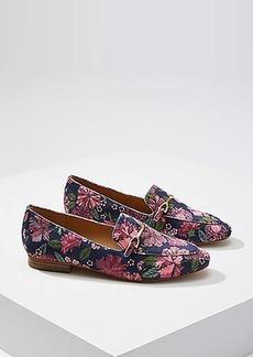 LOFT Floral Velvet Modern Loafers
