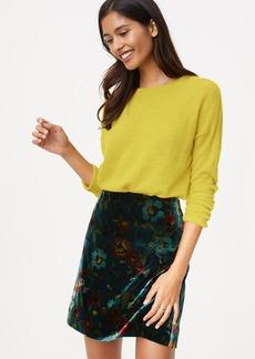 LOFT Floral Velvet Shift Skirt