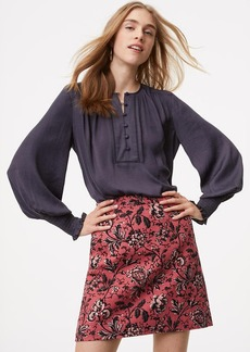 LOFT Floral Vine Shift Skirt
