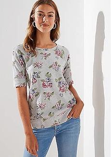 LOFT Floral Vintage Soft Sweatshirt Tee