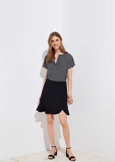 LOFT Flounce Pull On Skirt