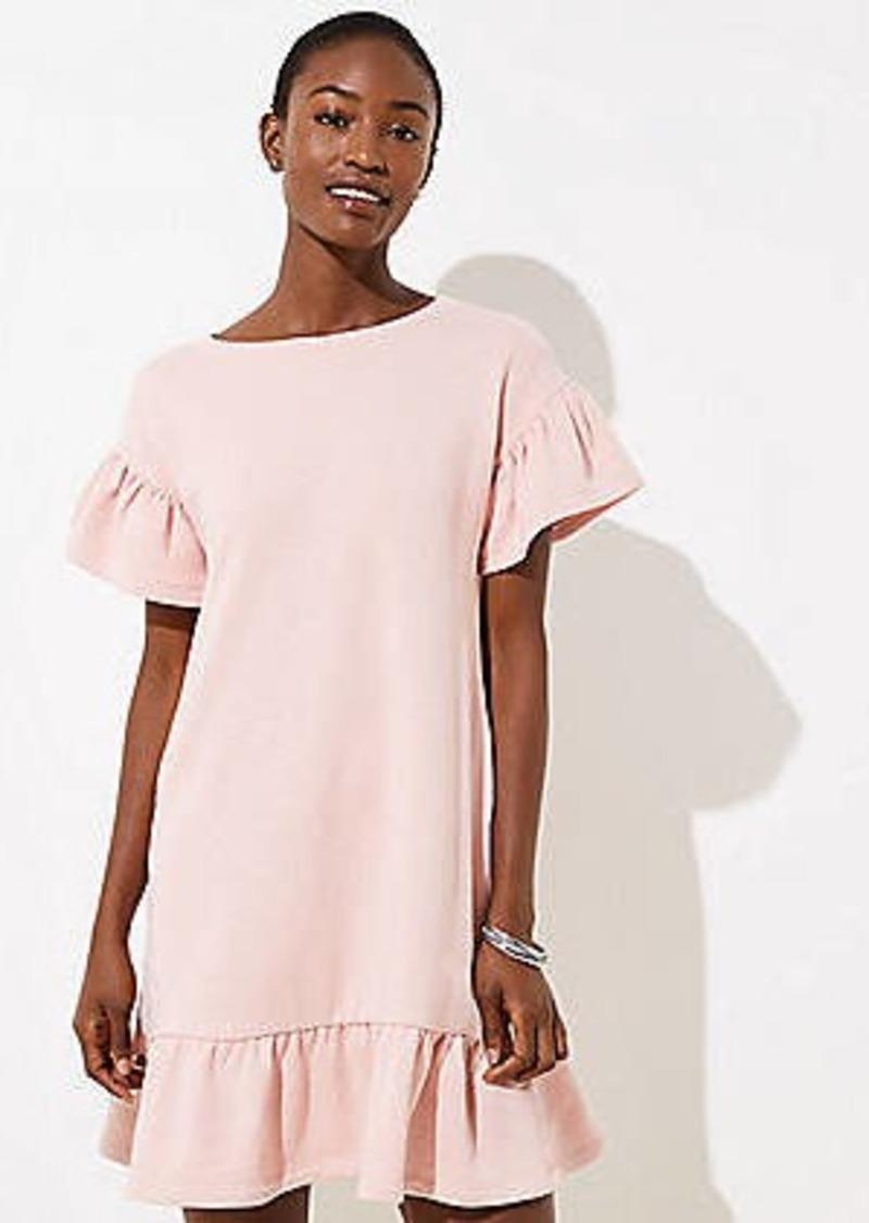 LOFT Flounce Tee Dress