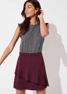 LOFT Asymmetrical Flippy Skirt