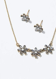 LOFT Flower Earring & Necklace Set