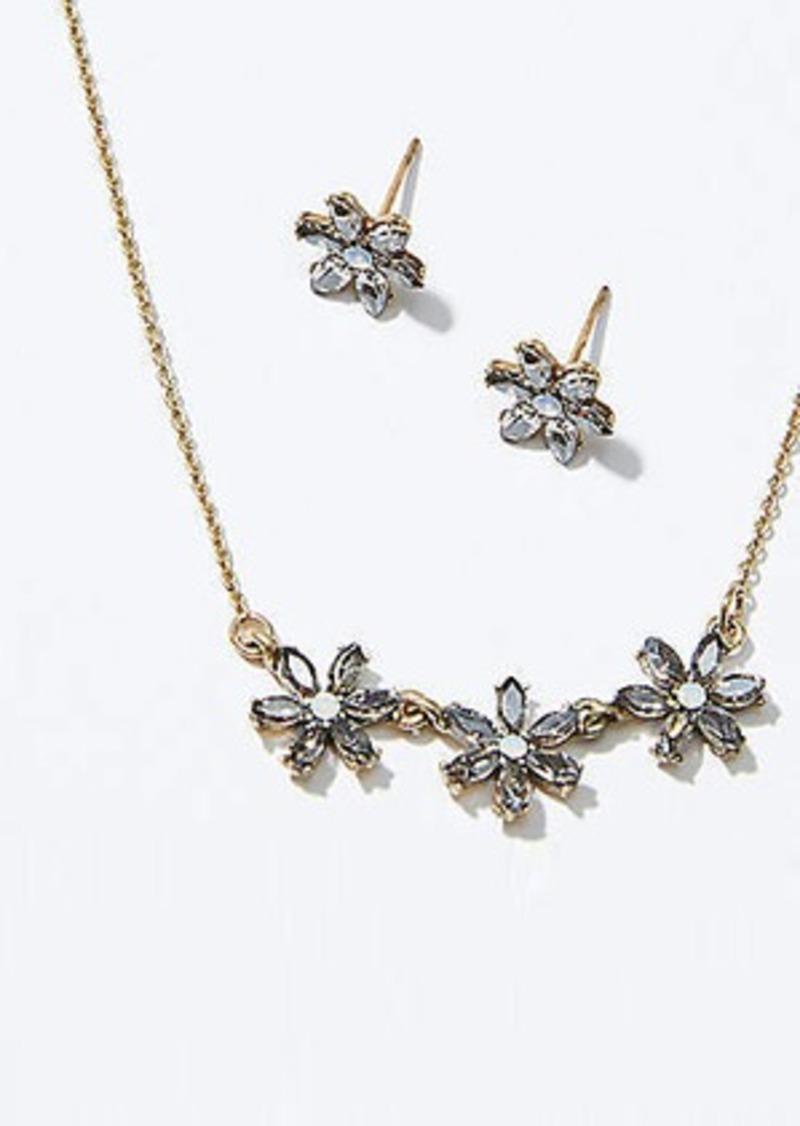 LOFT Flower Earring & Necklace Set