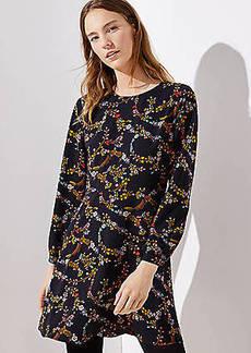 LOFT Flower Garland Flare Dress
